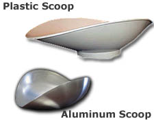 Plastic and Aluminum Totalcomp Scoops